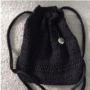 VINTAGE small black backpack